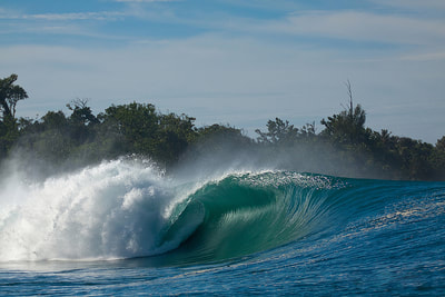 surf wave greenbush mentawais islands macaronis resort